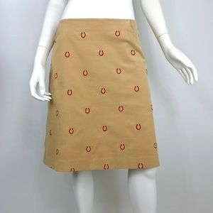 {Lilly Pulitzer} Corduroy Horseshoe Skirt